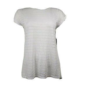 NWT SYLUS White Short Sleeve Top Medium